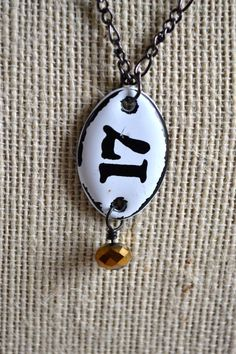 Number 17 Charm Necklace:
