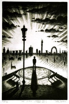 John Duffin - My City (Primrose Hill, London NW3) (etching)
