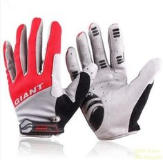 GIANT-Cycling-Cycle-Bicycle-Bike-BMX-BTT-Silicone-Full-Finger-Gloves-Mitts
