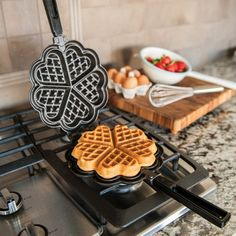 The Nordic Ware Sweetheart Waffler from Tongs n' Things is going to make you fall in love with breakfast. Make heart waffles for you and your sweetie!Nordic Ware® Sweetheart Waffler by Nordic Ware® Perfect for a Birthday Breakfast, Father's Day, Fo Cooking Gadgets, Cooking Utensils, Cooking Tools, Kitchen Utensils, Kitchen Appliances, Cooking Equipment, Cooking Timer, Cooking Recipes, Cool Kitchen Gadgets