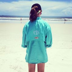 Yes! Monogrammed fishing shirt at the beach!