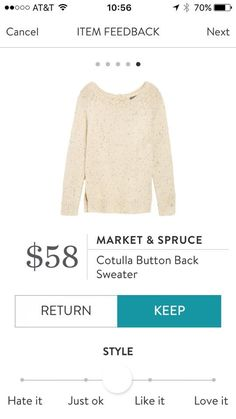 Dear Stitch Fix, Love a classic sweater like this.  Cream, grays, blues, forest green