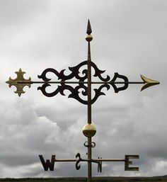 Copper Scroll Banner Weathervane Greens Weathervanes UK