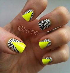 Cute Geometric Nail Design