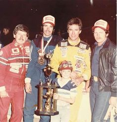 Old school Nascar - Neil Bonnett, ?, Darrell Waltrip and Dale Earnhardt Sr.