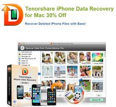 Tenorshare iPhone data recovery for Mac - Up to 30% off! Go to catch the chance.