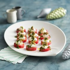 Watermelon canapes with whipped feta and walnuts    Thermomix Festive Flavour Cookbook and Recipe Chip   Christmas and Entertaining Recipes