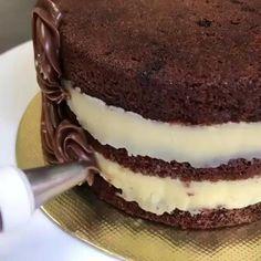 Jednostavne Torte, Baking Recipes, Cake Recipes, Torte Recepti, Food Garnishes, Aesthetic Food, Desert Recipes, Food Videos, Chocolate Cake