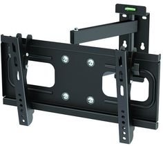 """InstallerParts Flat TV Mount 23~37"""" Tilt/Swivel, PA-924, Black -- For LCD LED Plasma TV Flat Panel Displays -- Fully Articulating Arm Mount Wall Bracket -- Great for Toshiba, Samsung, LG, Vizio, Sony, Dynex, Insignia and More! by InstallerParts. $24.99. This is an articulating medium duty mid size bracket for 23 to 37 inch screen size with 88lbs capacity. It can swivel plus/minus 90 degrees, and tilt minus 10 degrees (down).   Mounting plate extends up to 22 inch from ..."""