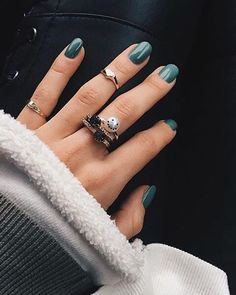 Featured in Vogue Magazine and The New York Times. A Unique Fine Freshwater Pearl Ring with Smiley Emoji Black Diamonds. The perfect jewelry gift or heirloom. Simple Wedding Nails, Wedding Nails Design, Simple Nails, Cute Acrylic Nails, Cute Nails, Pretty Nails, Aycrlic Nails, Hair And Nails, Coffin Nails