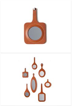 Oscar Maschera - Leather Framed Mirrors