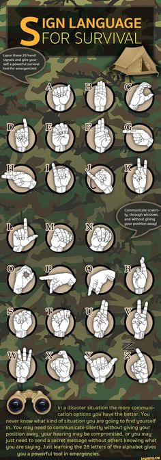#namethatweapon, #fact, #firstfeat, #survival, #facts #signlanguageposter