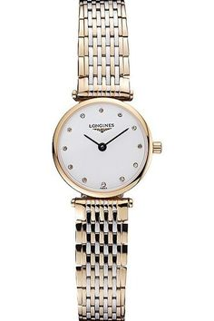 Longines La Grande Classique Two Tone Band White Dial Diamond Markers Femme Replica Watch