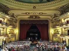 More things to do in Buenos Aires - including this old-theater-turned-bookstore! #buenosaires #argentina #travel