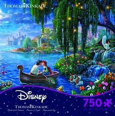 Completed.      The Little Mermaid 2 - Thomas Kinkade  -  Disney Collection - 750 pcs - 24x18 - #2903-11