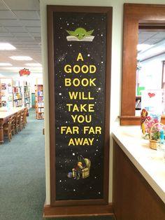 Star Wars library reading door