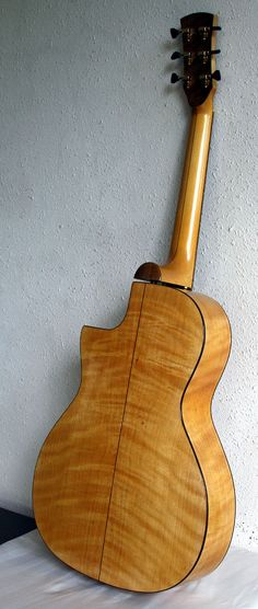 Here's the figured back of an Port Orford Cedar guitar by Laurent Brondel. Yup! Neck, back, sides and top! More details here:http://www.guitarbench.com/2010/12/19/2010-brondel-model-b-3-can/