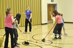 Broom Hockey & Ice Cream Party {Activity Day Idea}