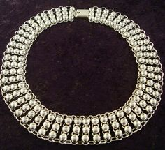 Taxco Silver Bead Necklace 2
