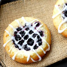 Blueberry Danish (gluten free egg free)- Delicious blueberry and mascarpone cheese danish. You'd never know it's gluten free.