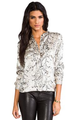 f891da9176cd7 Shop for Equipment Ava Printed Blouse in Fawn Python at REVOLVE.
