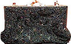 handbag beaded vintage purse bag clutch by FRANSCOSMETICSBARGIN etsy.com/shop/FRANSCOSMETICSBARGIN FRANSCOSMETICSBARGIN    franscosmeticsbargains  FRAN24112