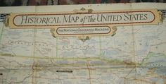 1953 Vintage National Geographic Map by FlowerChildTrends on Etsy