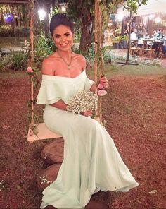 vestido de festa casamento ao ar livre, vestido de festa verde