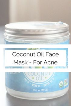 DIY coconut oil face mask – Heal Your Face With Food Face Scrub Homemade, Homemade Face Masks, Homemade Blush, Homemade Soaps, Acne Face Mask, Diy Face Mask, Acne Skin, Organic Face Moisturizer, Homemade Moisturizer