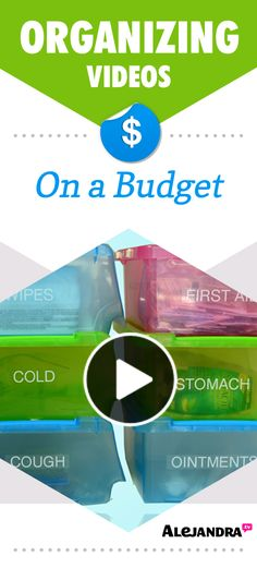 Cheap Budget Organizing Ideas, Tips, and Videos from http://www.alejandra.tv/home-organizing-videos/how-to-get-organized-on-a-budget/