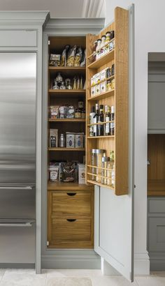Pantry Cupboards Kitchen Larder Cupboards, Pantries and Units – Tom Howley - Own Kitchen Pantry Kitchen Larder Cupboard, Benchmarx Kitchen, Home Decor Kitchen, Larder Unit, Kitchen Cupboard Designs, Pantry Design, Kitchen Design, Kitchen Organization, Kitchen Storage