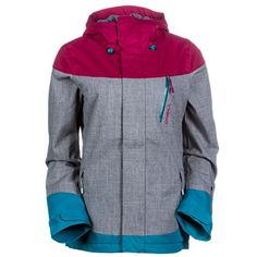 O'Neill Coral Womens Insulated Snowboard Jacket Large Silver Melee O'Neill  Snow http