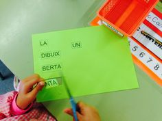 Treballem la frase amb el grup flexible B de lectoescriptura a P5.