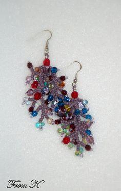 Beaded Earrings, Earrings Handmade, Crochet Earrings, Drop Earrings, Beading Ideas, Fireworks, Seed Beads, Jewelry Ideas, Jewelry Collection