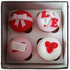 Valentine's cupcakes #rachelscupcakes
