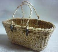 1:12th scale miniature basket by Lidi Stroud