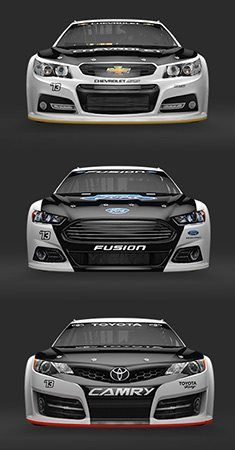 NASCAR Sweet looking cars! Can't wait to see them in action! Nascar Cars, Nascar Racing, Drag Racing, Race Cars, Nascar Rules, Nascar Heat, American Motors, American Sports, American Muscle Cars