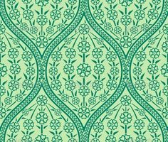 Seamless Oriental Floral Pattern