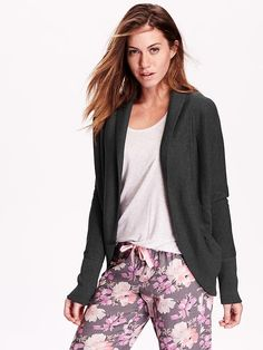 Black Shawl Collar Cocoon Cardigan - Size L | Cardigans, Collars ...