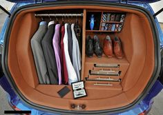 I don't have a Kia.but this is dope! Kia Sportage trunk organization like a boss (a dapper boss at that) Trunk Organization, Closet Organisation, Car Trunk, Kia Sportage, Well Dressed Men, Gentleman Style, Southern Gentleman, Dapper Gentleman, Trunks