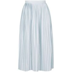 TopShop Jersey Pleat Midi Skirt (€41) ❤ liked on Polyvore featuring skirts, jersey midi skirt, full skirt, full pleated skirt, jersey skirt and mid calf skirts