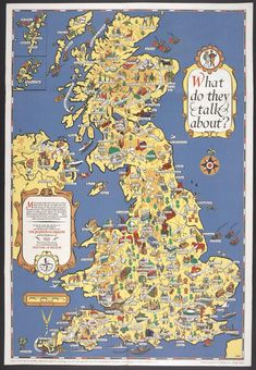 How Britain saw itself in 1951 - map of Britain