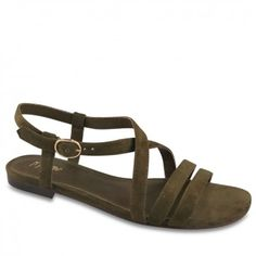 Crafted from soft and silky army green suede, these casual sandals are the perfect addition to any weekend wardrobe. With elegant crossover straps and a touch of hardware at the buckle, Tobby is ideal for maxis, shorts and everything in between! Fashion Accessories, Fashion Jewelry, Green Suede, Online Purchase, Army Green, Gladiator Sandals, Casual, Shoes, Jewellery