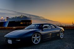 Ferrari 348 and Polaris Leader which is vessel for carrying vehicles. Ferrari 348, Exotic Sports Cars, Amazing Cars, Awesome, Cars And Motorcycles, Baby Car, Cool Cars, Dream Cars, Super Cars