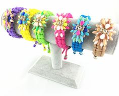 Shourouk 2014 Newest Style Statement Bracelets  Bangles Resin Flower Handmade Chain Bracelet Fashion Bangles Jewelry For Women