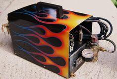 Air compressor ,  flames