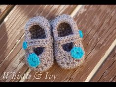 Baby Boat Shoe Booties Crochet Pattern - YouTube