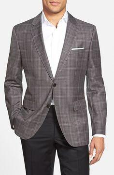 BOSS 'James' Trim Fit Plaid Wool Sport Coat (Online Only)