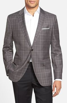 BOSS 'James' Trim Fit Plaid Wool Sport Coat (Online Only)