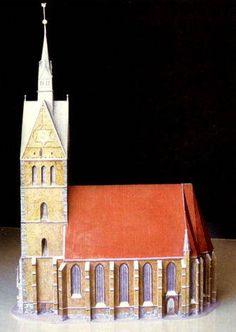 Marktkirche St. Georgii et Jacobi in Hanover Free Building Paper Model Download